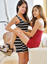 Naked Babe Megan and Sophia Dressed For More