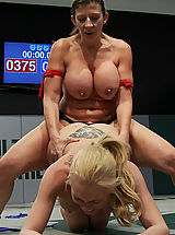 Sexual Wrestling Tiny Blond vs Monster BoobageA modern day David & Goliath, where Goliath has Monster EE tits