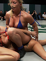 Sexual Wrestling 6 Girl gang bang orgy from hell: The losers are getting fucked, fisted, made to cum & Squirt!